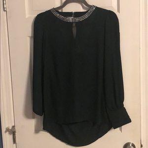 Green dressy blouse